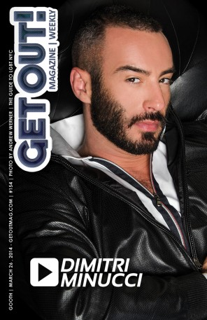 GET OUT! GAY MAGAZINE ISSUE 153 - DIMITRI-